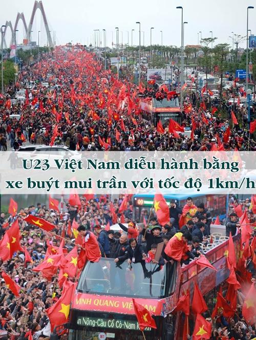 Những cái nhất của U23 Việt Nam khi về nước - 1