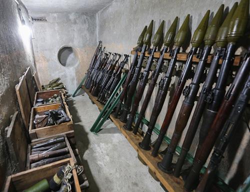 Hầm chứa vũ khí đánh Dinh Độc Lập của ông Trần Văn Lai. Ảnh: Quỳnh Trần.