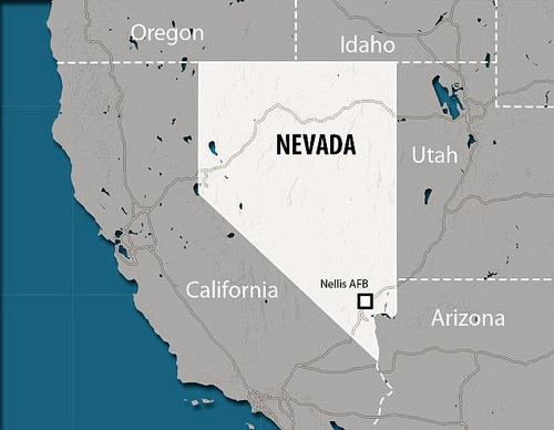 Tập trận Red Flag thường được tiến hành tại bang Nevada, Mỹ. Đồ họa: AFP.