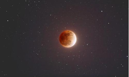 Hiện tượng siêu trăng, trăng xanh trùng trăng máu hiếm gặp sẽ diễn ra cuối tháng 1.Ảnh: UPI.