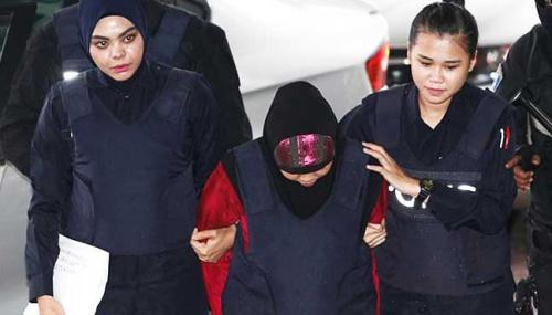 Nghi phạm Indonesia được đưa tới toà. Ảnh: AFP.