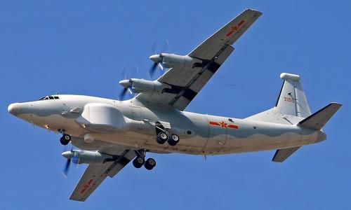 Máy bay tác chiến điện tử và tình báo tín hiệu Y-8G. Ảnh: Sina.