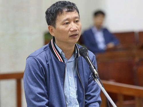 Bị cáo Trịnh Xuân Thanh. Ảnh: TTXVN