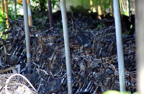 Hiện trường vụ cháy tại Cong an thành phố Biên Hòa. Ảnh: Thái Hà