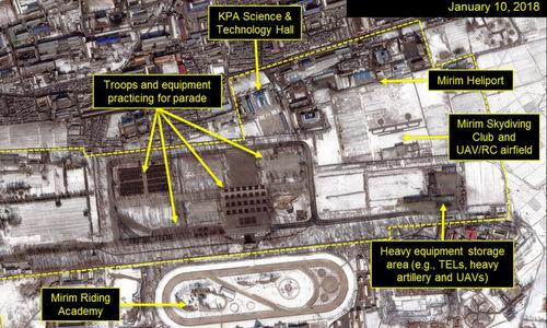 Trang thiết bị và binh lính xuất hiện tại khu huấn luyện Mirim. Ảnh: Airbus.