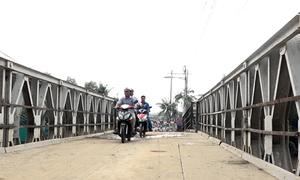TP HCM dựng lại cầu sập Long Kiểng sau 12 ngày