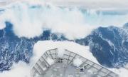 Sóng lớn nuốt chửng tàu chiến New Zealand ở Nam Cực