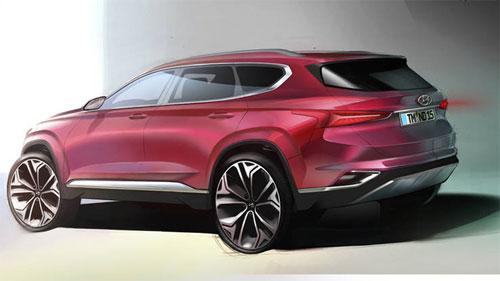 Phần đuôi xe với đèn hậu dẹt, hai ống xả kiểu trên xe sang. Ảnh: Hyundai.