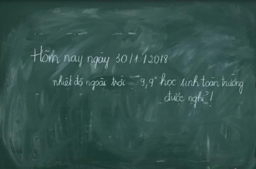 Bảng thông báo của một trường mầm non ở quận Cầu Giấy, Hà Nội. Ảnh: Dương Tâm
