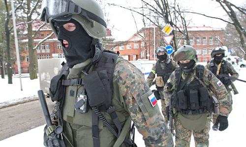Các thành viên FSB trong cuộc đột kích tạiNizhny Novgorod. Ảnh: Sputnik.