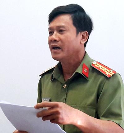 Đại tá Phạm Trung Thành cho rằng việc làm của cấp dưới là rất phản cảm. Ảnh: Cửu Long.