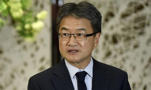 Đặc phái viên Mỹ về vấn đề Triều Tiên Joseph Yun. Ảnh: AP.
