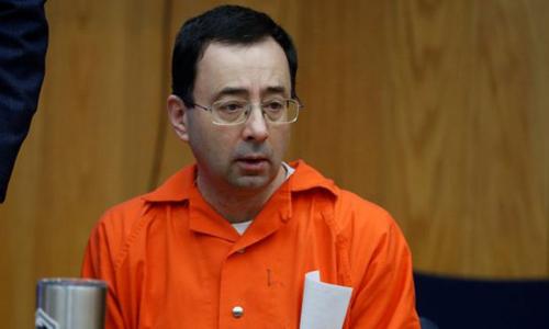 Bị cáo Larry Nassar tại tòa. Ảnh: Reuters.