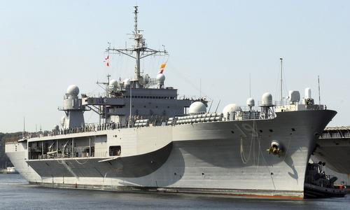 USS Blue Ridge sau một chuyến tuần tra Thái Bình Dương. Ảnh: US Navy.