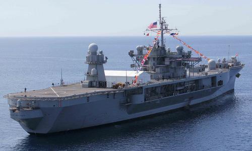 USS Mount Whitney triển khai gần Italy. Ảnh: US Navy.
