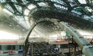 Công trường sân bay như đại phi thuyền vũ trụ của Trung Quốc