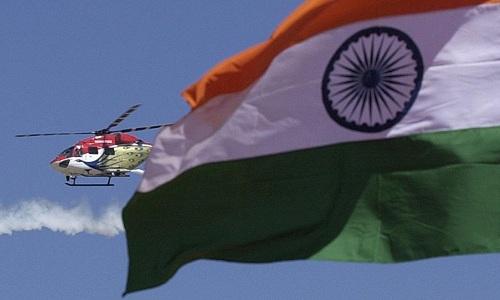 Một trực thăng hạng nhẹ mới của không quân Ấn Độ. Ảnh: AFP.