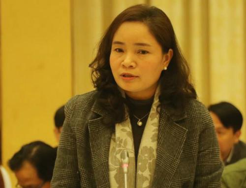 Thứ trưởng Văn hoá Trịnh Thị Thuỷ. Ảnh: Võ Hải