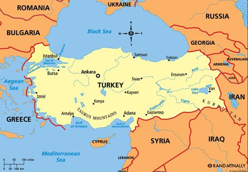 Vị thế chiến lược của Thổ Nhĩ Kỳ. Đồ họa: RAND.