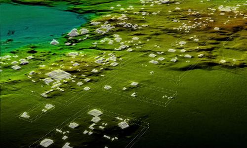 Công nghệ quét laser giúp nhóm nghiên cứutìm ra hơn 60.000 kiến trúc cổ của người Maya. Ảnh: National Geographic.