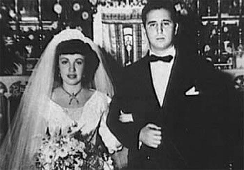 Ông Fidel Castro và vợMirta Diaz-Balart kết hôn vào 11/10/1948. Ảnh: Havana Times.