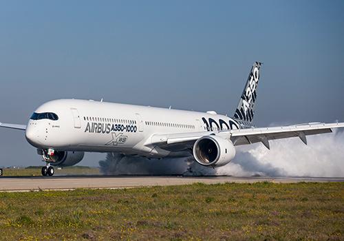 Máy bay A350-1000 trong tour trình diễn ở châu Á, Thái Bình Dương.