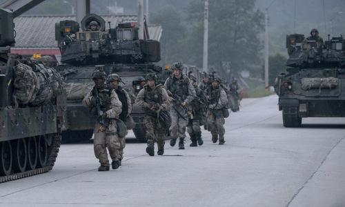 Lính Mỹ tham gia tập trận Warrior Strike hồi năm ngoái. Ảnh: USFK.