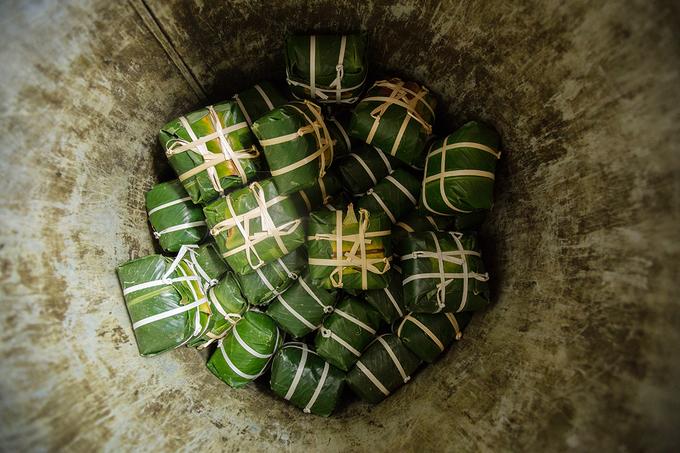 Làng bánh chưng Tranh Khúc vào vụ Tết