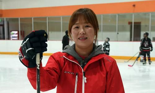 Hwangbo Young, cựu vận động viên khúc côn cầu trên băng Triều Tiên đã đào tẩu sang Hàn Quốc. Ảnh: AFP.