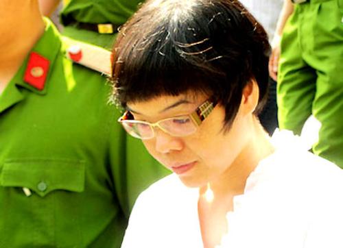 Huyền Như trong lần ra toà năm 2015. Ảnh: Hải Duyên.