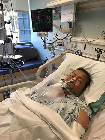 Bà Helen trong thời gian điều trị ung thư trước khi qua đời. Ảnh:nextshark