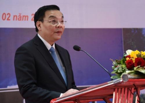 Bộ trưởng Chu Ngọc Anh phát biểu tại lễ khánh thành Trung tâm đào tạo cán bộ quản lý khoa học và công nghệ Lào. Ảnh: T.H