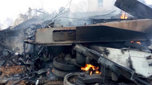 Xác xe tăng Leopard 2A4 sau vụ tấn công. Ảnh: Livejournal.