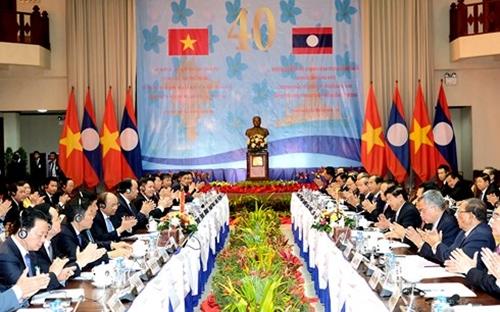 Toàn cảnh kỳ họp lần thứ 40 Ủy ban liên Chính phủ Việt Nam - Lào