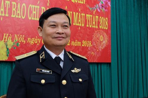 Thiếu tướng Trần Hoài Trung, Chính uỷ Quân chủng Hải quân. Ảnh: Hoàng Thuỳ