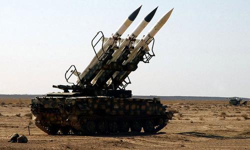Tên lửa phòng không của Syria. Ảnh: China News.