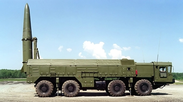 An Iskander-E short-range ballistic missile launcher (RIA Novosti / Photo courtesy of Russia's KBM Engineering Design Bureau based in Kolomna) / RIA Novosti