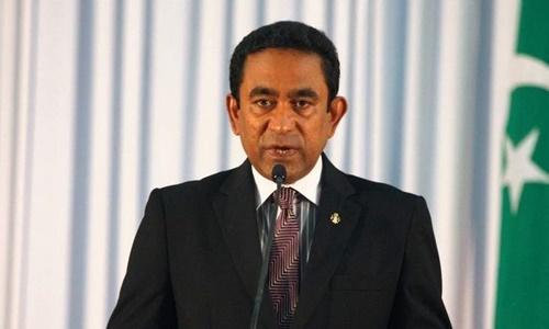 Tổng thống Maldives Abdulla Yameen. Ảnh: AFP.