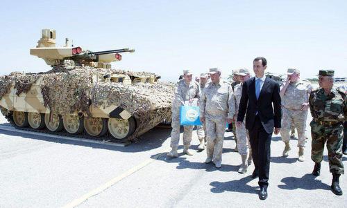Chiếc BMPT-72 được triển khai tới căn cứ Hmeymim tại Syria. Ảnh: Southfront.