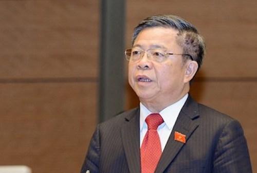 Do sai phạm trong cấp giấy chứng nhận đầu tư cho Formosa, ông Võ Kim Cự bị cách tất cả chức vụ trong quá khứ. Ảnh: QH