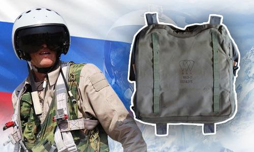 Trang bị sinh tồn của phi công Nga khi phải nhảy dù. Bấm vào ảnh để xem đầy đủ.