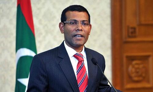 Cựu tổng thống Maldives Mohamed Nasheed. Ảnh: AP.