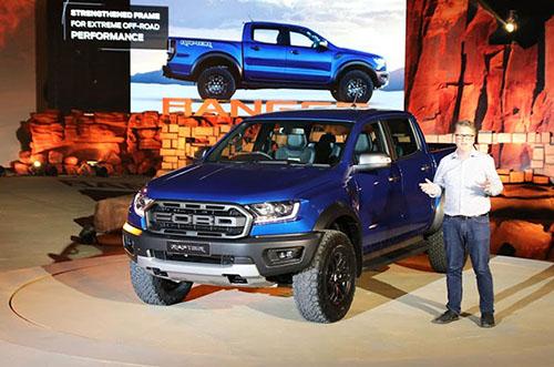 Ford Ranger Raptor trong buổi họp báo ra mắt hôm 7/2 tại Thái Lan. Ảnh: Đức Huy.