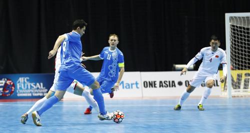 Việt Nam thua Uzbekistan tại tứ kết giải futsal châu Á