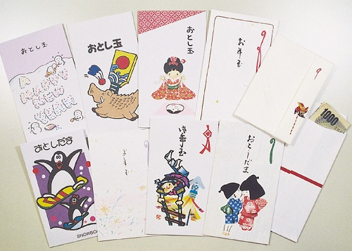Tiền lì xì được nhét trong những phong bao trang trí cầu kỳ. Ảnh: Taiken Japan