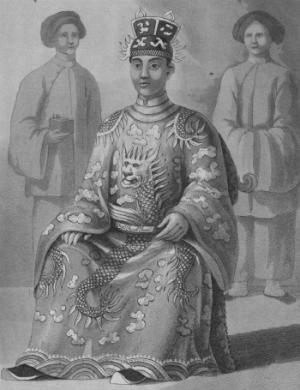 Chân dung vua Minh Mạng, người lên ngôi vào mùng 1 Tết Canh Thìn (1820).