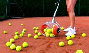 Thiết bị giúp nhặt 60 quả bóng tennis trong giây lát