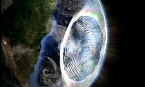 Vùng dị thường Nam Đại Tây Dương thường được gọi là Tam giác Bermuda của vũ trụ. Ảnh minh họa: Daily Galaxy.