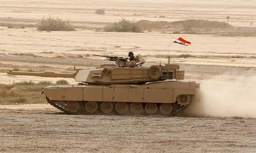 Xe tăng M1 Abrams thuộc biên chế quân đội Iraq. Ảnh: AFP.