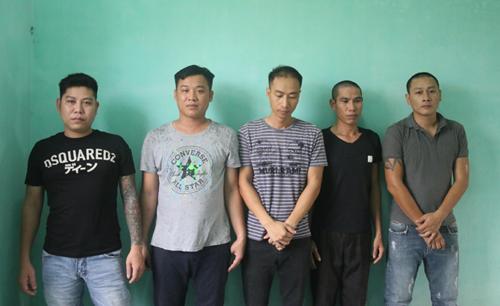 Nhóm trộm cắp tại cơ quan điều tra. Ảnh: Báo Bắc Giang.